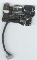 Плата питания NEW для MacBook Air 13 A1466 (2013-2017)  I/O Power Board 820-3455 A , MagSafe 2  USB 3.0  AudioBoard